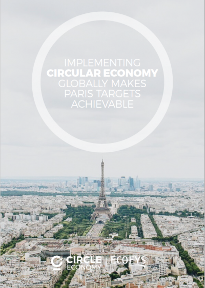 Circular economy paris agreement NDC climate change mitigation 2.0 degrees shifting paradigms