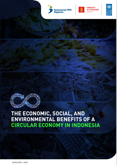 Circular economy Indonesia waste food beverages textiles construction Wholesale retail plastic packaging, remanufacturing UNDP Systemiq Alpha Beta electronics environment economic social benefits carbon climate GDP value added